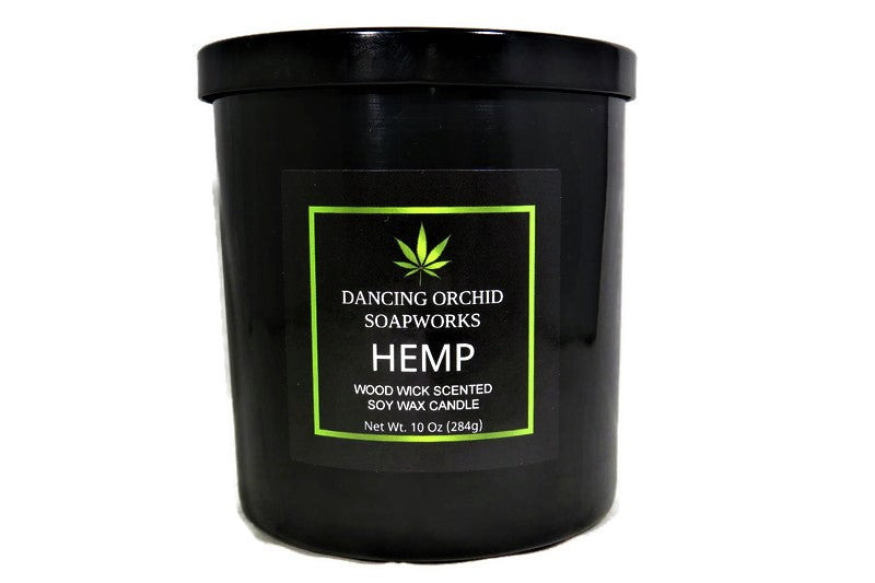 Hemp Scented Wood Wick Soy Candle - Dancing Orchid SoapWorks