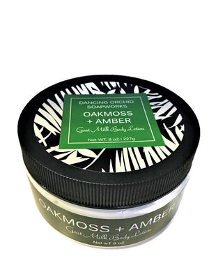Oakmoss And Amber Goats Milk Body Lotion - Dancing Orchid SoapWorks