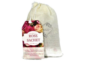 All Natural Aromic Rose Sachet - Dancing Orchid SoapWorks