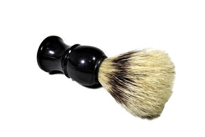 Black Shave Brush - Dancing Orchid SoapWorks