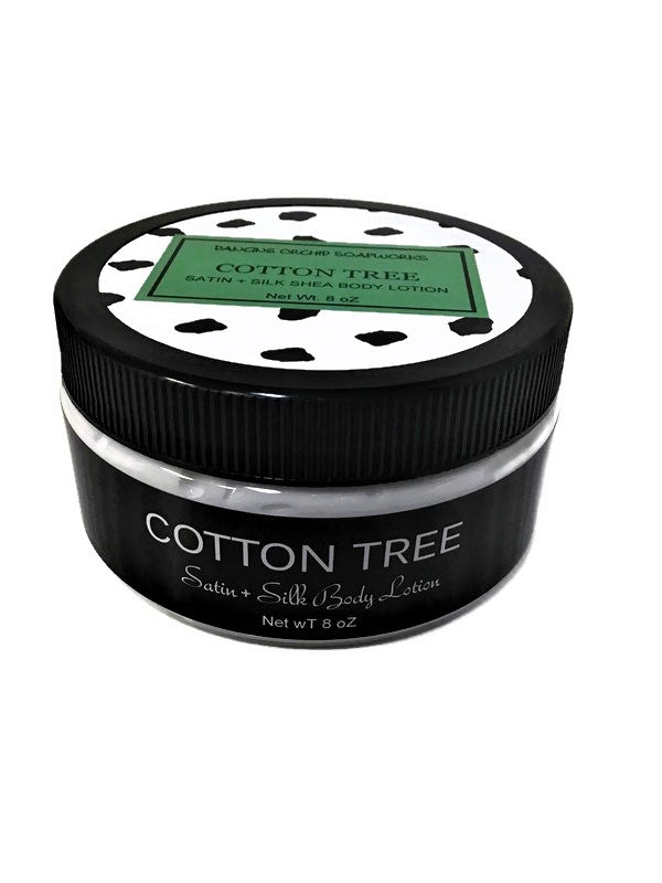Cotton Tree Silk And Satin Body Lotion - Dancing Orchid SoapWorks