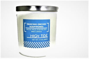 High Tide Scented Wood Wick Soy Candle - Dancing Orchid SoapWorks