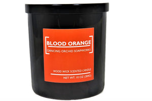Blood Orange Scented Wood Wick Soy Candle - Dancing Orchid SoapWorks