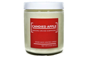 Candied Apple Scented Wood Wick Soy Candle - Dancing Orchid SoapWorks