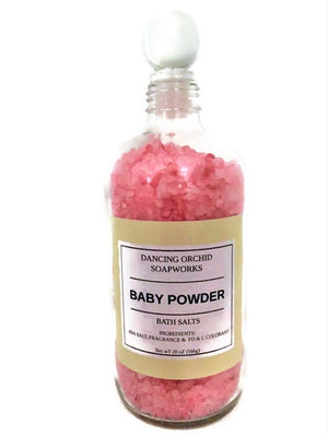 Baby Powder Bath Salt Soak - Dancing Orchid SoapWorks