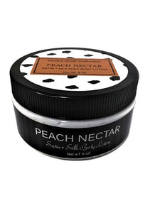Peach Nectar Satin And Silk Body Lotion - Dancing Orchid SoapWorks