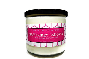 Raspberry Sangria Scented 3 Wick Soy Wax Candle - Dancing Orchid SoapWorks