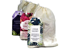 Set Of 3 Assorted All Natural Aromic Sachets - Dancing Orchid SoapWorks