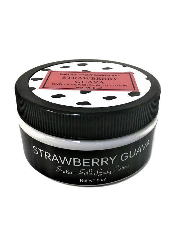 Strawberry Guava Satin And Silk Body Lotion - Dancing Orchid SoapWorks
