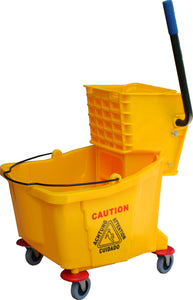 Mop Bucket 35 Qt Sidepress Combo Yellow