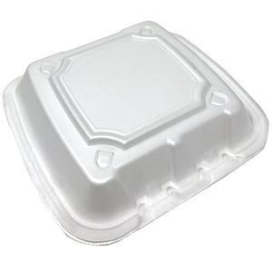 Foam Container With Vents, 8 x 8 x 3,  200pcs, #RE883S-White