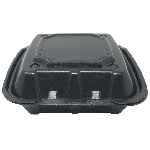 Foam Container With Vents, 9x9x3, 200pcs, #RE993S-Black