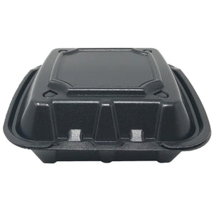 Foam Container With Vents,  8 x 8 x 3, 200pcs, #RE883S-Black