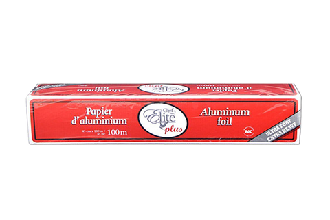 Aluminum Roll With Cutter Box,18''x100m, Extra-Heavy, #Chef Elite, #MC