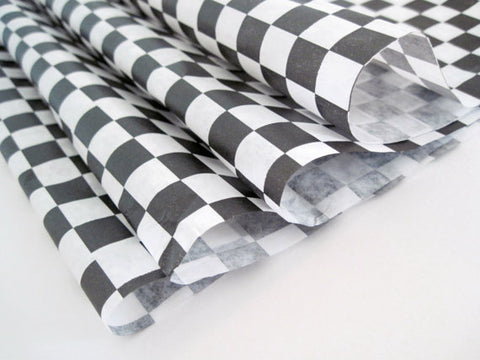 Wax Paper Black Checker Grease 12x12  1000/case