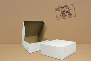 White Cake Boxes, 14 x 14 x 6,   50pcs