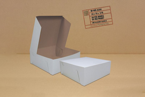 White CAKE BOXES {16 X 16 X 6}  50 PCS