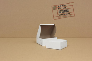 White Cake Boxes 5.5 x 5.5 x 2.5  250 pcs