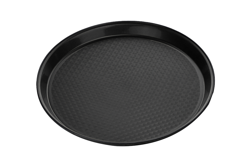 Catering Tray Round SOFT Plastic 18''  Black 50pcs