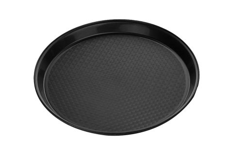 Catering Tray Round, SOFT, Plastic 12'',   Black 50pcs