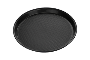 Catering Tray Round SOFT Plastic 16''  Black 50pcs