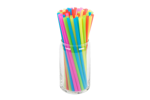 Cocktail Straws,  8'',  Multicolor, 500 pcs