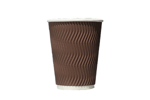 COFFEE CUPS  RIPPLE WALL  BROWN  12 OZ  500 PCS