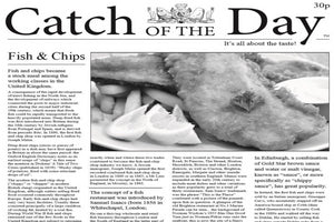 Wax Paper Newsprint  12 x 12 (Fish and Chips )  1000/Cs  #415137