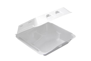 Foam Container,  3-compartment,,  9x9x3,  150 pcs,  #0903