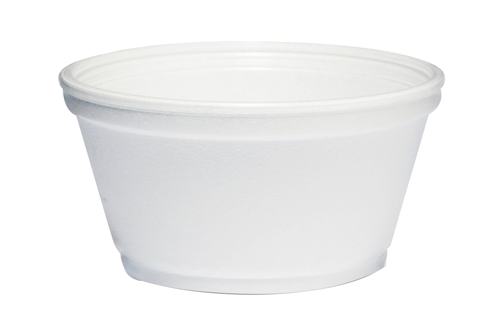 Foam Soup Container, Short, 3.5oz 1000pcs, #3.5J6