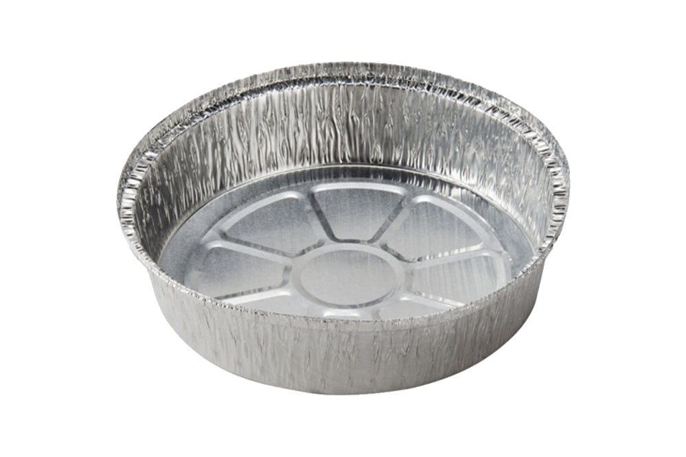 Foil Round Takeout Container,   9'',  500 pcs