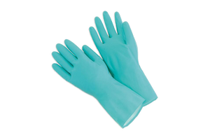 Kitchen Gloves, Nitrile Green,  Small,  13'' Long, 12 pairs,