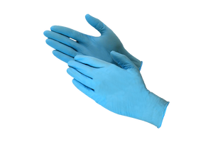 Gloves,  Nitrile Blue,  Large  powder free, 200 pcs #Large