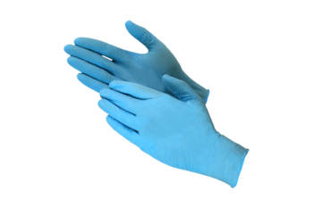 Gloves Blue Nitrile, powder free, 100pcs, #Small