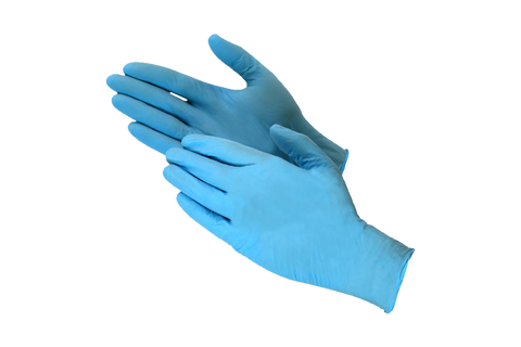 GLOVES,  Nitrile Blue,  Medium  powder free,  200 pcs  #Medium