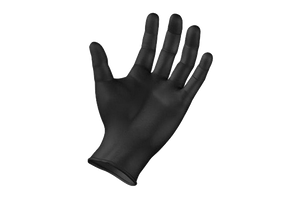 Gloves Nitrile *BLACK* Medium  EXTRA TOUGH  100pcs *Medium