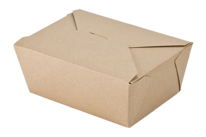 Kraft Paper Food Containers,  200 pcs,  #9