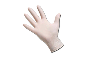 Gloves Latex,  Powder Free, 100 pcs,  #Medium