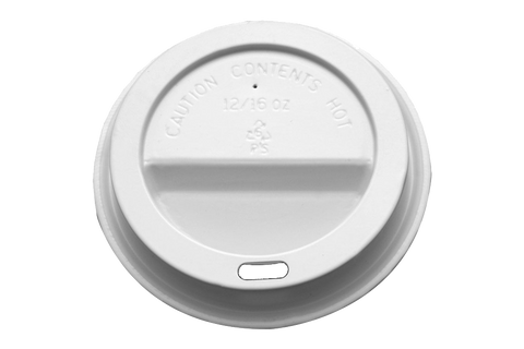 Lids Dome For Coffee Cups,  WHITE,  10-20 oz, 1000 pcs #90 mm