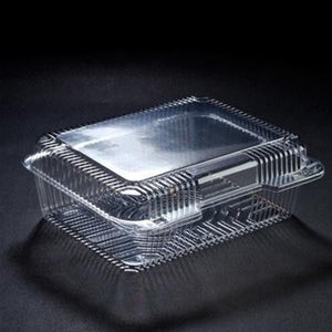Plastic Container Clear,   8 x 5.75 x 2.5 500 pcs  #VEL-022