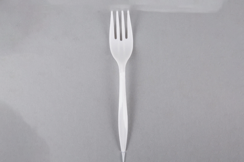 Plastic Forks, 1000pcs, #White, #Medium, #UnWrapped, #Maple Leaf