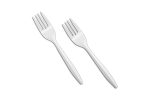 Plastic Forks Regular White 1000 pcs #Regular