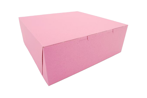 Pink cake box, 14x10x4, 100 pcs  1/4 sheet