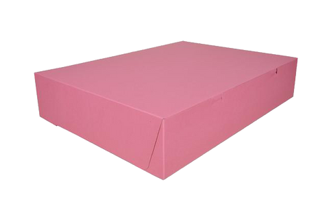Pink cake box, 20x14 1/2x4, 50 pcs  1/2 sheet