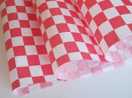 Wax Paper Red Checker Grease Sheets, 12x12, 1000/case