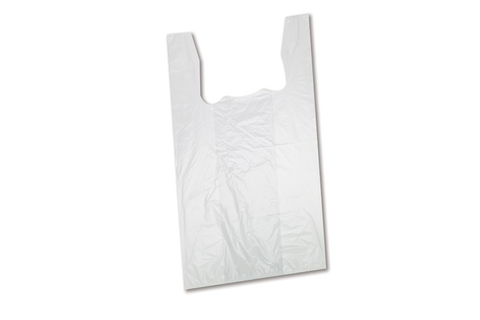 Shopping Bags  Low Density White  16lbs  17''x20'' 1000pcs  # S3W