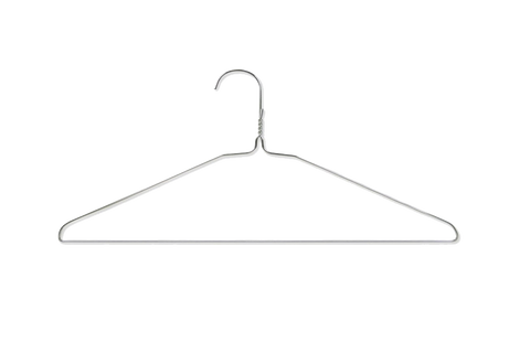 Suit Hangers  16'' , Gauge 13 , White  500pcs  #HA10W