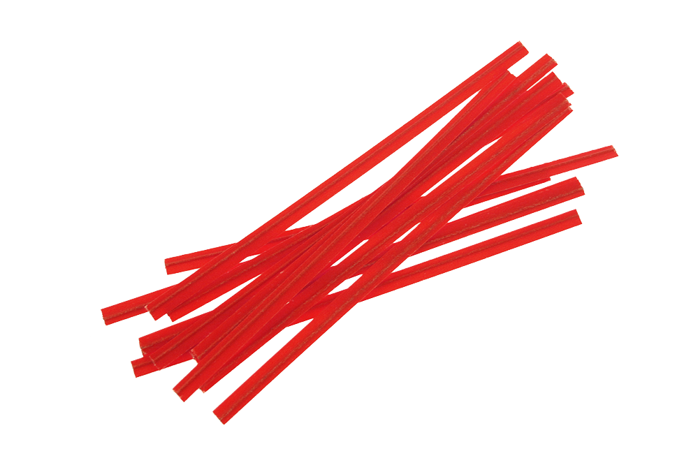 Twist Ties Red Strips  4''   2000 pcs