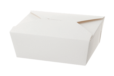 White Paper Food Containers, Size: 9 x 4-1/2  x  3,   200 pcs,  #9 ,