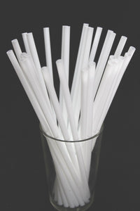 DRINKING STRAW 6'' WHITE UNWRAPED 500 ***EACH***